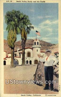 Scotty & his Castle - Death Valley, California CA Postcard