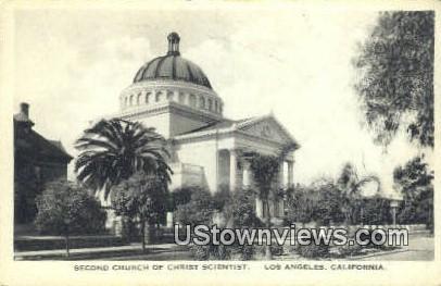 Second Church of Christ Scientist - Los Angeles, California CA Postcard