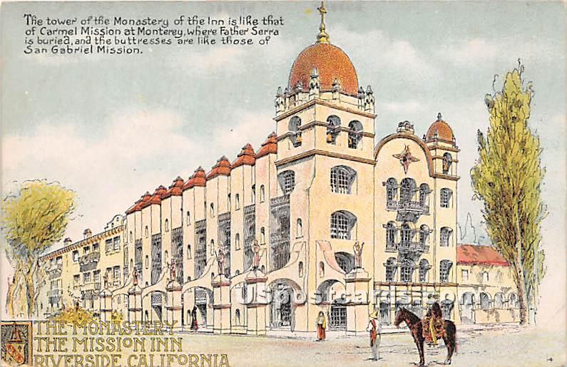 The Monastery, Mission Inn - Riverside, California CA Postcard