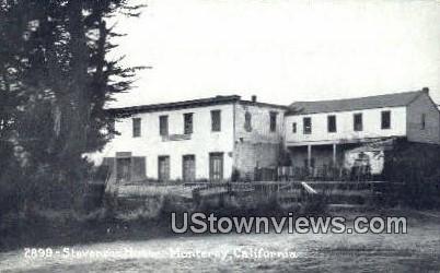 Stevenson House - Monterey, California CA Postcard