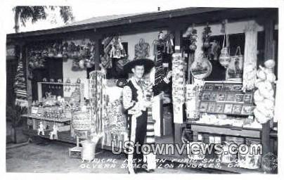 Mexican Curo Shop - Los Angeles, California CA Postcard