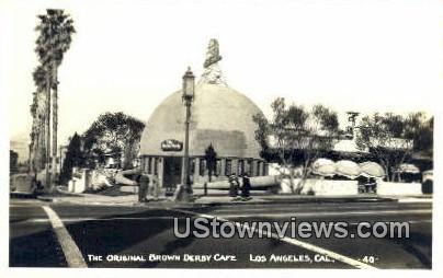 Original Brown Derby Cafª - Los Angeles, California CA Postcard