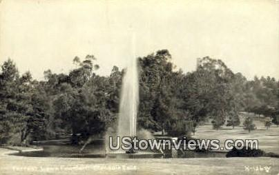 Forrest Lawn Fountain - Glendale, California CA Postcard