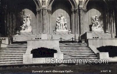 Forrest Lawn - Glendale, California CA Postcard