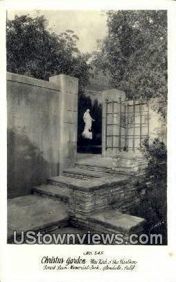 Christus Garden - Glendale, California CA Postcard