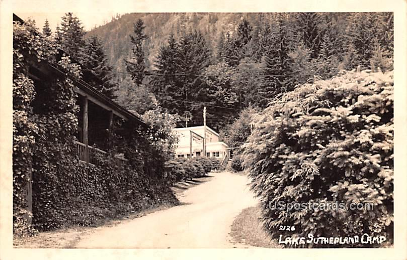 Lake Sutherland Camp - Ramona, California CA Postcard