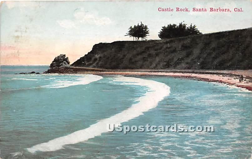 Castle Rock - Santa Barbara, California CA Postcard