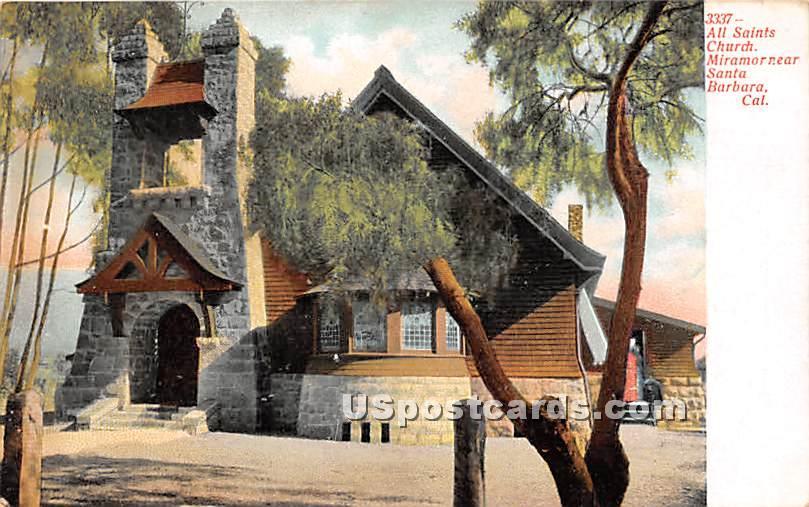 All Saints Church - Santa Barbara, California CA Postcard