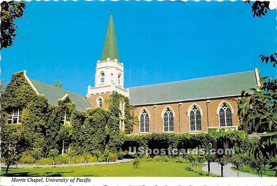 Morris Chapel, University of Pacific - Stockton, California CA Postcard