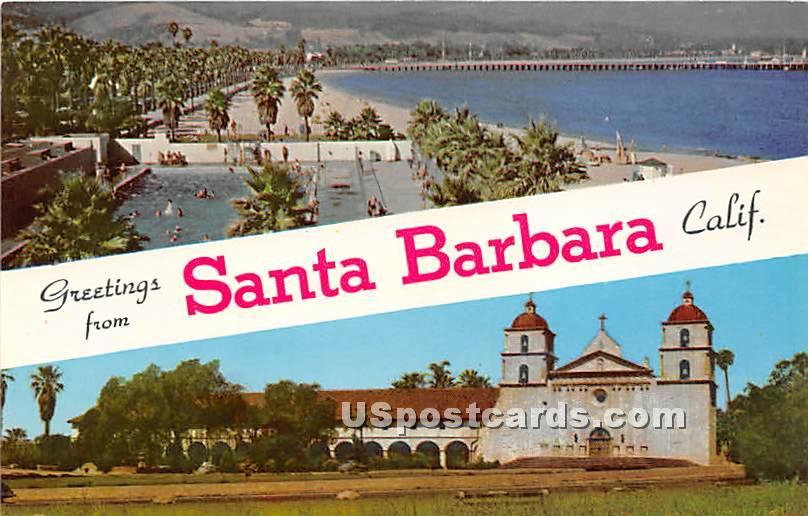 Santa Barbara, California CA Postcard