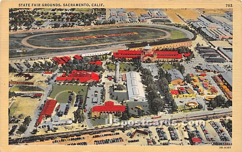 State Fair Grounds - Sacramento, California CA Postcard