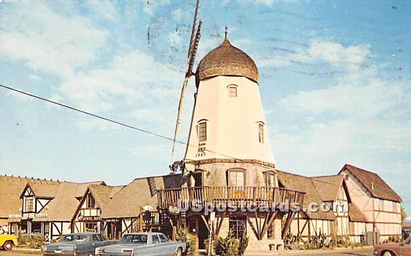 Three Story Mill - Solvang, California CA Postcard