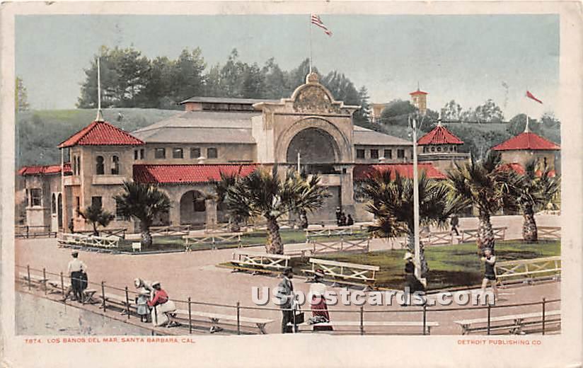 Los Banos Del Mar - Santa Barbara, California CA Postcard
