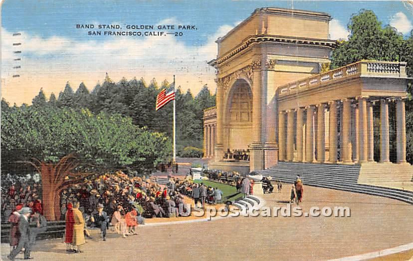 Band Stand, Golden Gate Park - San Francisco, California CA Postcard