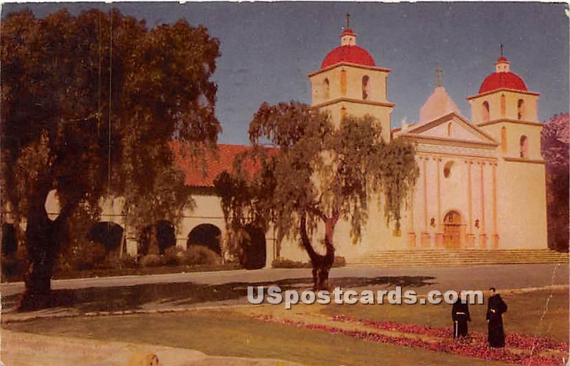 Mission 1786 - Santa Barbara, California CA Postcard