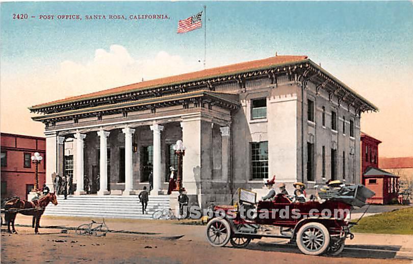Post Office - Santa Rosa, California CA Postcard