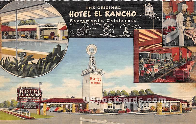 Hotel El Rancho - Sacramento, California CA Postcard