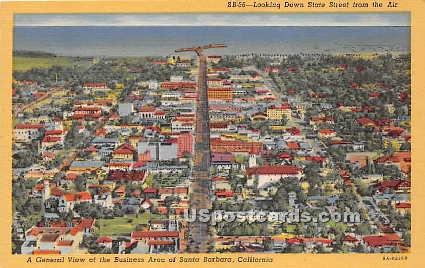 State Street - Santa Barbara, California CA Postcard