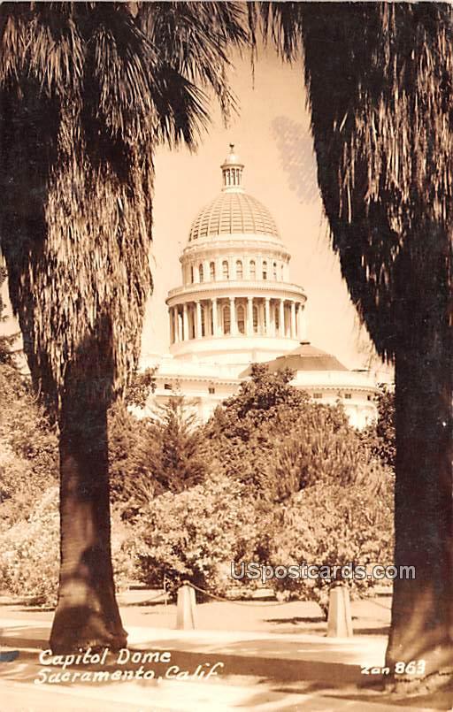 Capitol Dome - Sacramento, California CA Postcard