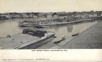 Water Front - Sacramento, California CA Postcard