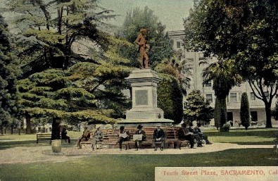 Tenth Street Plaza - Sacramento, California CA Postcard
