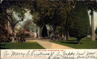 The Plaza - Sacramento, California CA Postcard