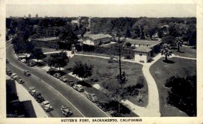 Sutter's Fort - Sacramento, California CA Postcard