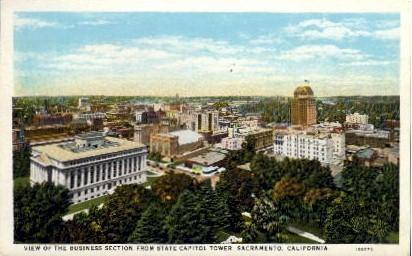 Business Section - Sacramento, California CA Postcard