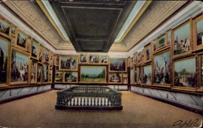 Interior Crocker Art Gallery - Sacramento, California CA Postcard