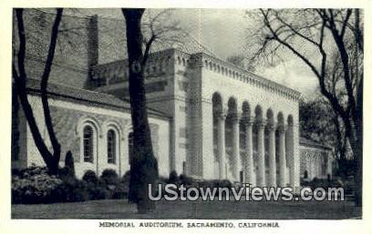 Memorial Aud - Sacramento, California CA Postcard