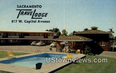 Sacramento Travelodge - California CA Postcard