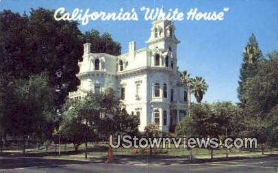 White House - Sacramento, California CA Postcard