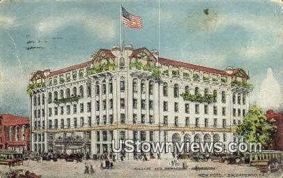 New Hotel - Sacramento, California CA Postcard