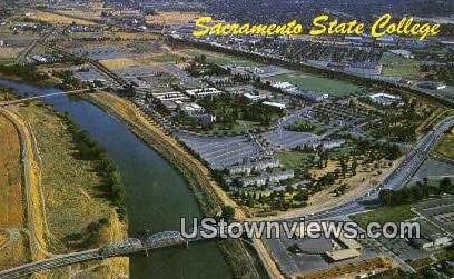 Sacramento State College - California CA Postcard