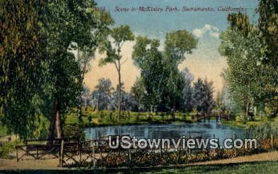 McKinley Park - Sacramento, California CA Postcard