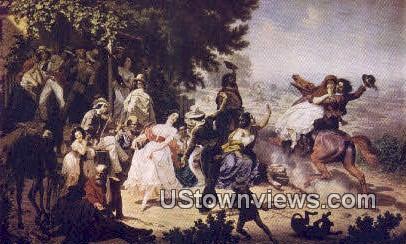 Spanish Land Grant, Crocker Art Gallery - Sacramento, California CA Postcard