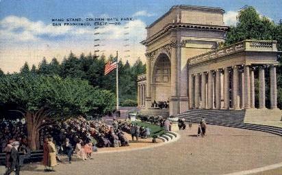 Band Stand - San Francisco, California CA Postcard