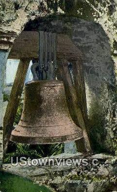 Large Bell - San Gabriel Mission, California CA Postcard