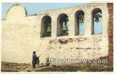 The Old Bells - Mission San Juan Capistrano, California CA Postcard