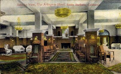 The Arlington Hotel - Santa Barbara, California CA Postcard