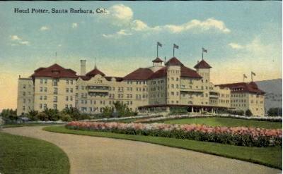 Hotel Potter - Santa Barbara, California CA Postcard