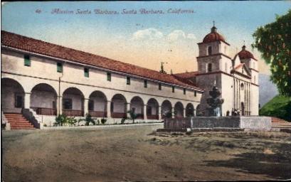 Mission Santa Barbara - California CA Postcard