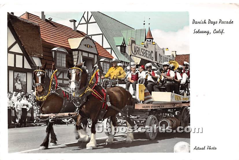 Danish Days Parade - Solvang, California CA Postcard