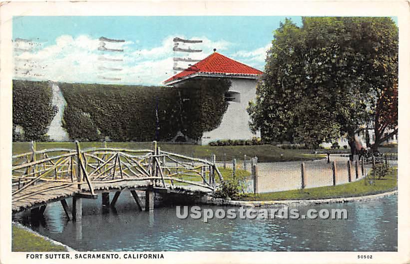 Fort Sutter - Sacramento, California CA Postcard