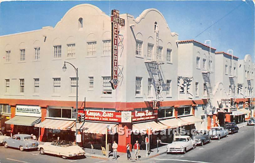 Occidental Hotel - Santa Rosa, California CA Postcard