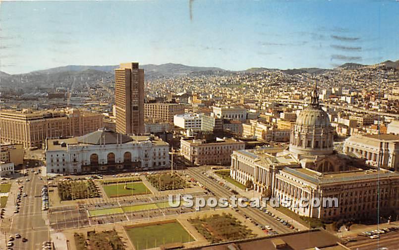 Convention Center & Civic Center Plaza - San Francisco, California CA Postcard