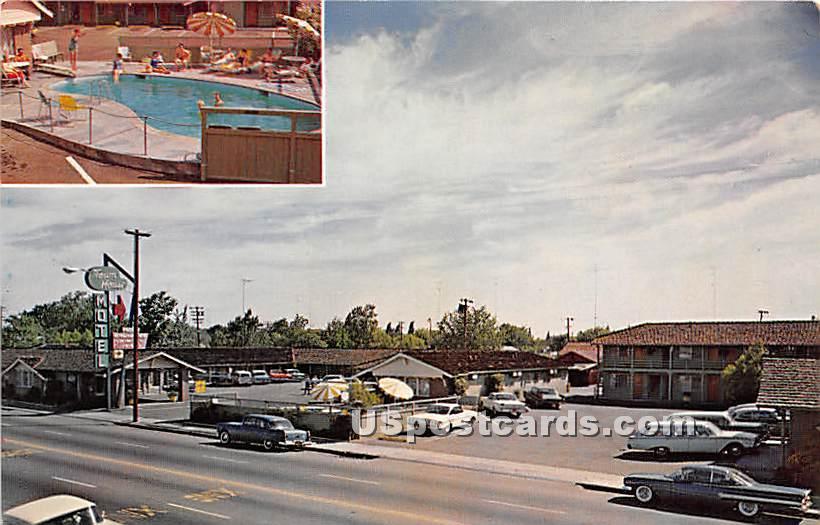 Town House Motel - Stockton, California CA Postcard