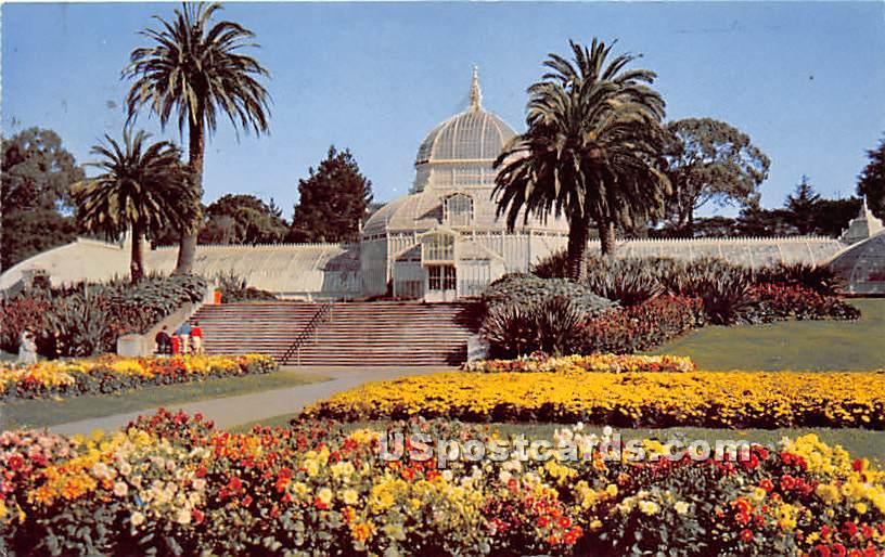 Conservatory of Flowers, Golden Gate Park - San Francisco, California CA Postcard