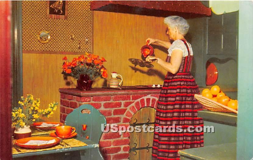 Replica of Danish Kitchen, Ferdinand Sorensen - Solvang, California CA Postcard