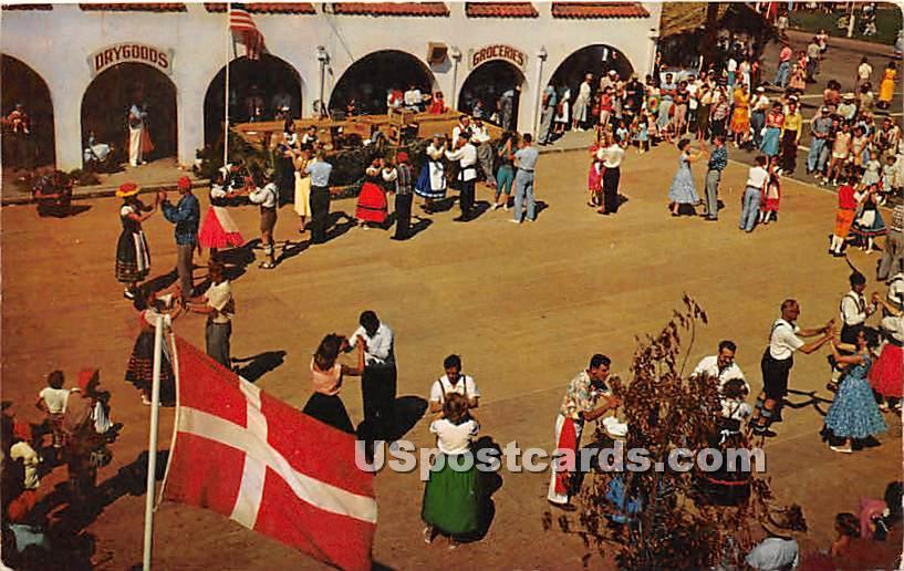 Velkommen-Welcome - Solvang, California CA Postcard